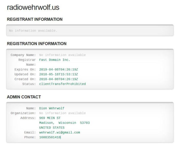 WhoIs radiowehrwolf